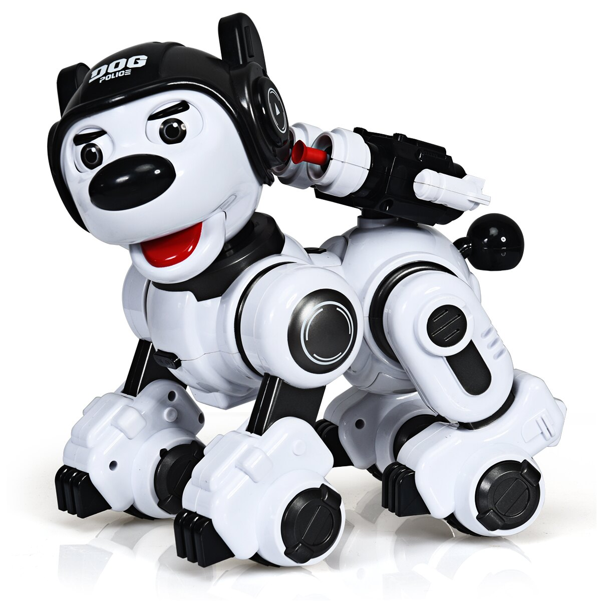 En robothund i hundebur